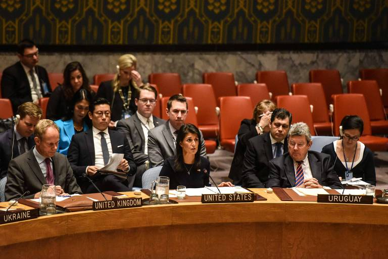 Ambassador to the UN, Nikki Haley, delivers remarks during a United Nations Security Council meeting on North Korea on September 4, 2017 in New York City. The securty council was holding its second emergency meeting in a week after North Korea announced the detonation of what it called an underground hydrogen bomb September 3.