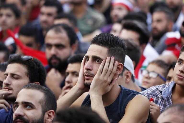 Sírios em Damasco; millennials do país são os que mais condenam o uso de armas nucleares
