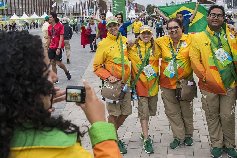 Voluntários da Olimpíada