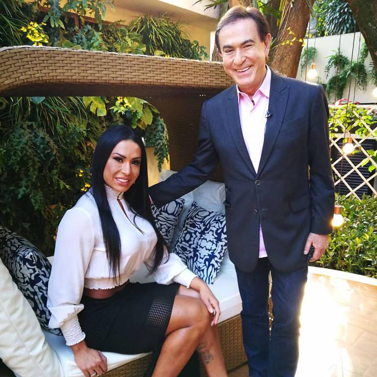 "Gracyanne Barbosa será a entrevistada do programa ""Amaury Jr."" (Rede Tv!)"