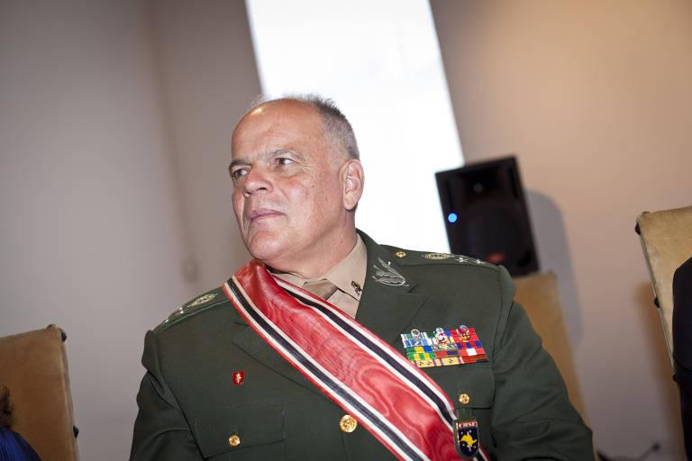 O general de Exército João Camilo Pires de Campos em solenidade no Palácio dos Bandeirantes, em SP