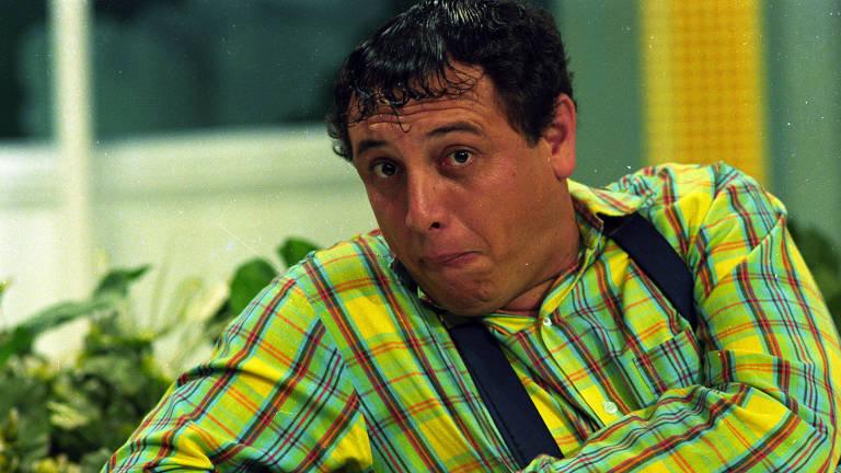 O original: o ator Pedro Bismarck, caracterizado como o personagem Nerso da Capitinga, posa para foto, em 1993
