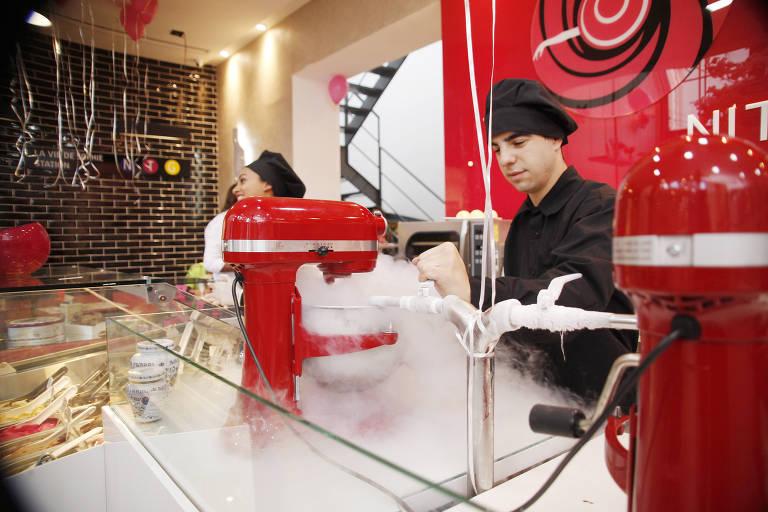 Ambiente da sorveteria La Vie de Sophie