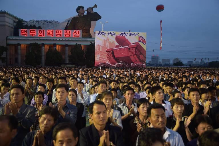 Coreia do Norte comemora sucesso de bomba de hidrog�nio