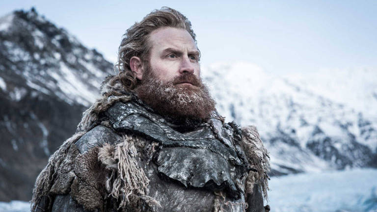 "O ator Kristofer Hivju, que interpreta Tormund Giantsbane, em ""Game of Thrones"""