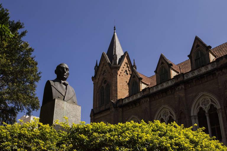 Fachada do prédio principal da Santa Casa de Misericórdia de São Paulo