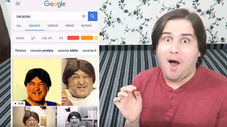 """Youtuber paquistanês Baddie Kaif se """"descobre"""" parecido com Zacarias"""