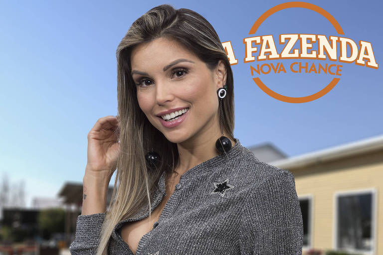 """A atriz e apresentadora Flávia Viana, que agora retorna para """"A Fazenda"""" como repórter"""