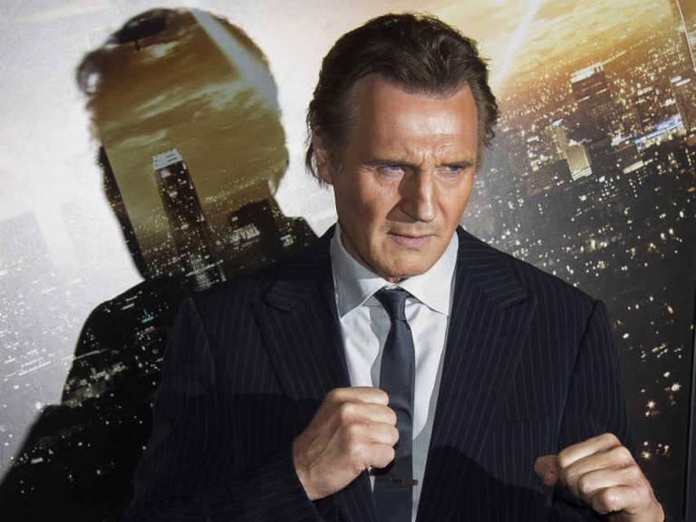 Liam Neeson durante a estreia de 'Busca Implac�vel 3', em 2015