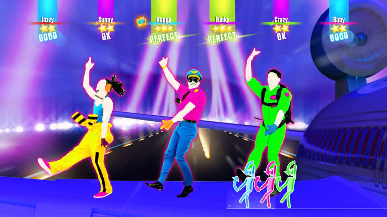 Tela do jogo Just Dance 2017