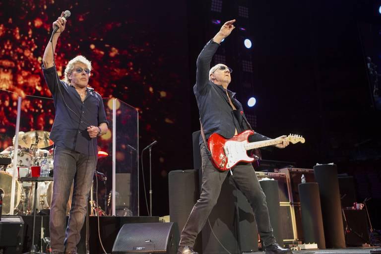 A banda The Who faz show que integra o São Paulo Trip