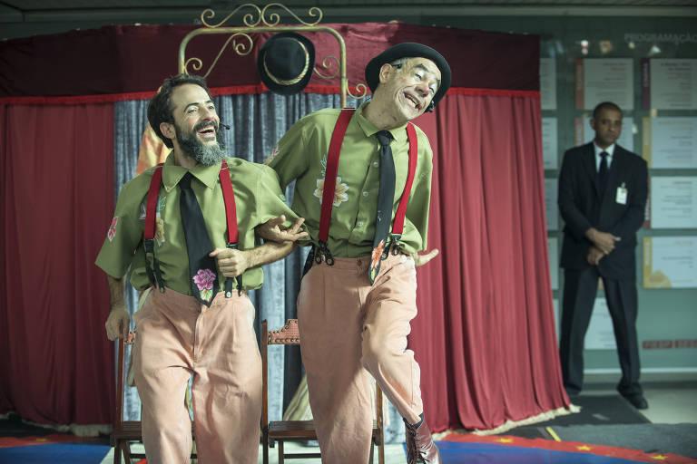 Fernando Sampaio e Fernando Paz em cena de 'Reprise', da La Mínima