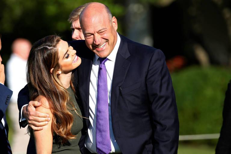 Hope Hicks e Gary Cohn, assessor econômico de Donald Trump