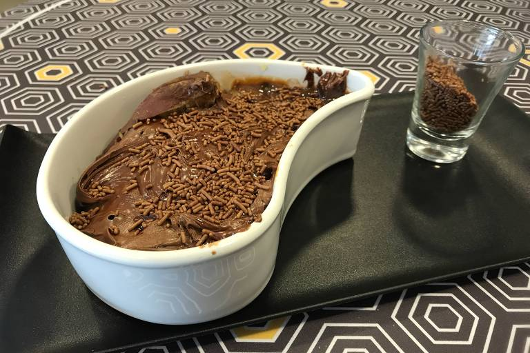 Sobremesa de batata-doce com Nutella, da Dois Corações