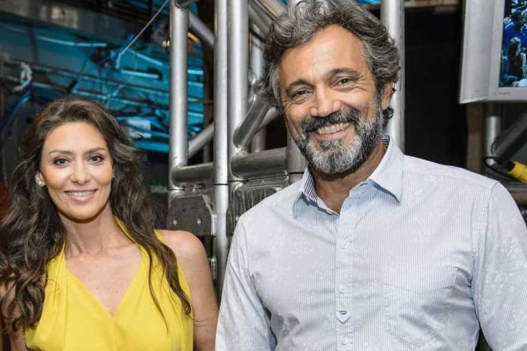 """Maria Fernanda Cândido e Domingos Montagner no programa """"Altas Horas"""""""