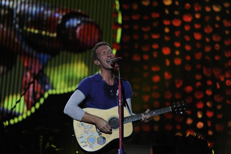 Show da banda britânica Coldplay no Maracanã, zona norte do Rio