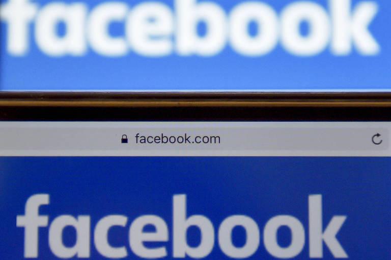 Logo do Facebook em evento na França; empresa disse trabalhar para resolver a questão
