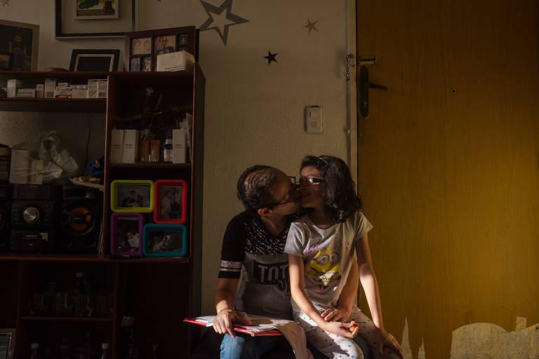A venezuelana Mildred com a filha, Sofia