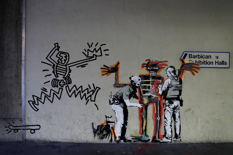 Novo mural do artista Banksy, perto do Barbican Centre, em Londres
