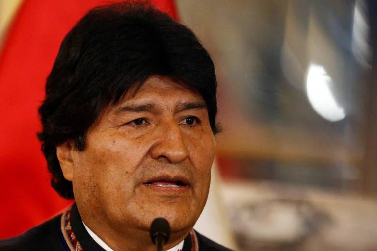 Imagem em close do presidente da Bolívia, Evo Morales