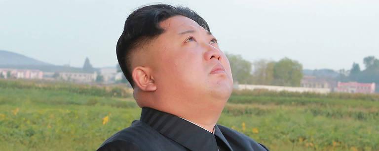 O ditador da Coreia do Norte Kim Jong-un – KCNA via KNS
