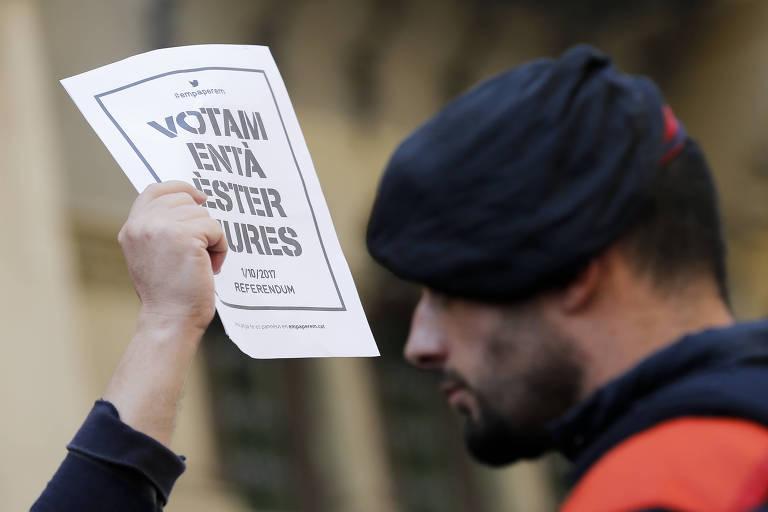 Manifesta��o pela independ�ncia da Catalunha