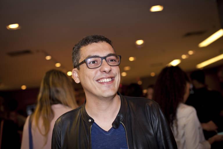 """O diretor Daniel Rezende antes de sessão especial do filme """"Mãe!"""" no shopping Cidade Jardim, em 2017"""