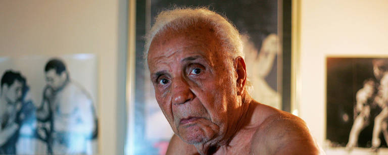 O ex boxeador Jake LaMotta – Teddy Blackburn/Reuters