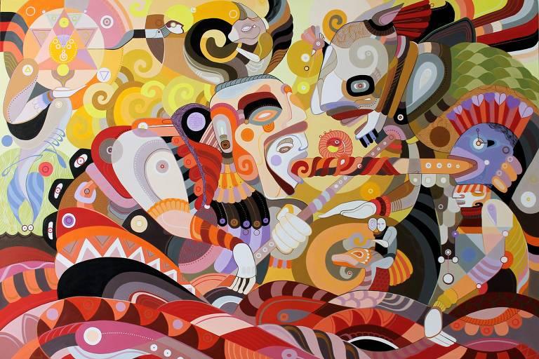 Obra do artista Fernando Chamarelli, um dos participantes do festival