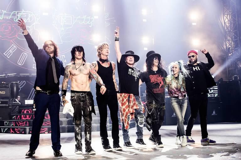 Guns N' Roses faz show que integra o São Paulo Trip