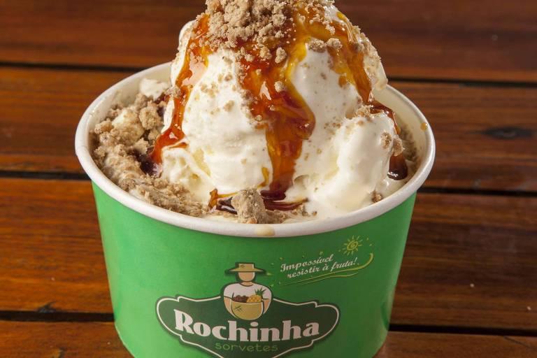 As lojas da sorvetes Rochinha prepararam uma ação especial no dia do gelato