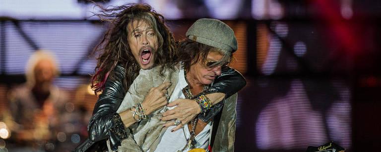 Show do Aerosmith no primeiro dia do segundo final de semana do Rock in Rio – Eduardo Anizelli/Folhapress