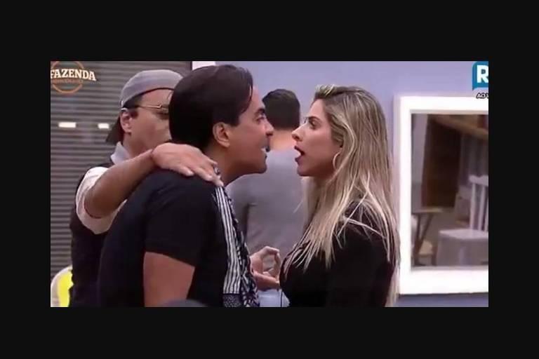 """Fábio Arruda e Ana Paula Minerato brigam em """"A Fazenda 9"""""""