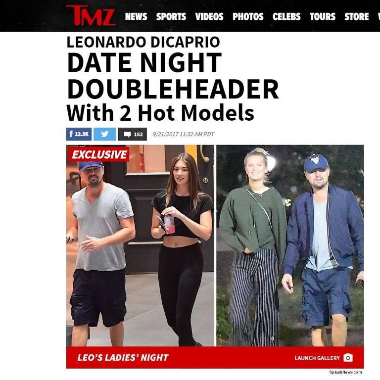 Leonardo DiCaprio é visto com duas modelos alemãs no mesmo dia