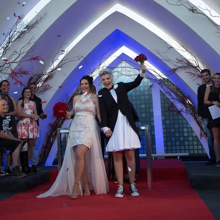 Larissa e Luiza se casaram no dia 17 de setembro