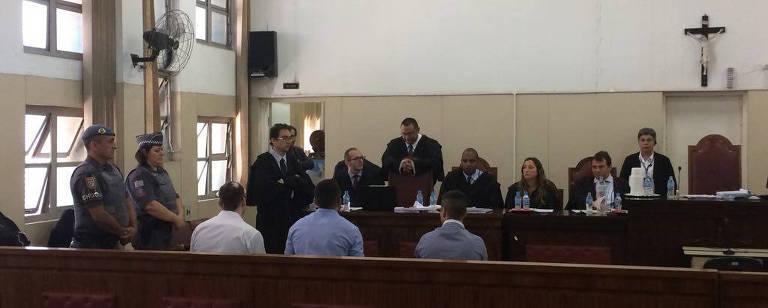 Foto do julgamento da chacina – Rogério Pagnan/Folhapress