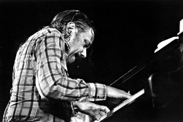 O pianista norte-americano Horace Silver durante apresentação no Free Jazz Festival, no Rio de Janeiro
