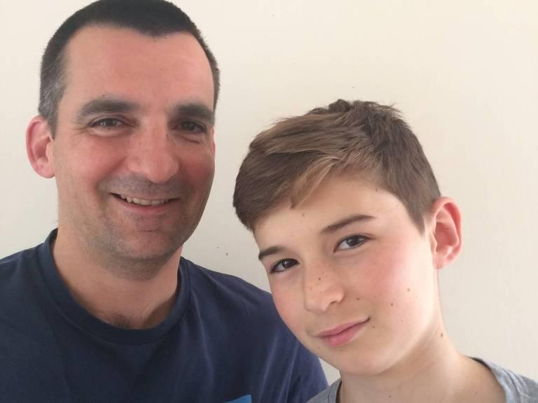 Nick Herbert e seu filho Ben – BBC