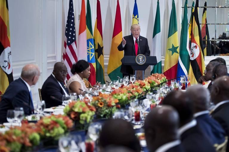 Trump fala a líderes africanos em reunião em hotel em NY