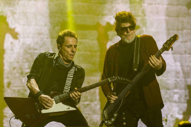 Titãs faz show de abertura do palco Mundo na noite deste sábado no sexto dia do Rock in Rio