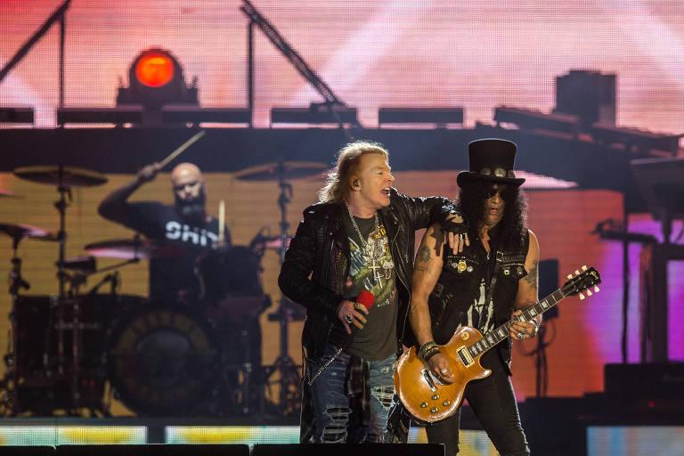 Guns N' Roses, que se apresentou no Rock In Rio no sábado, toca nesta terça em SP