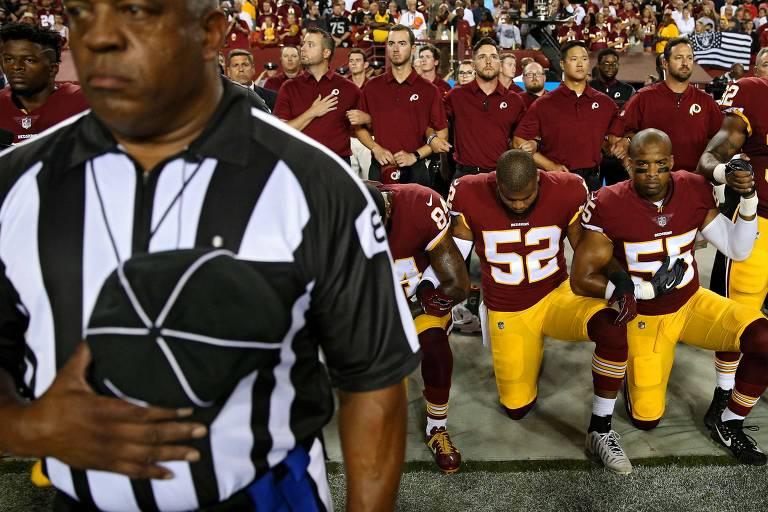 Protestos contra Trump na NFL