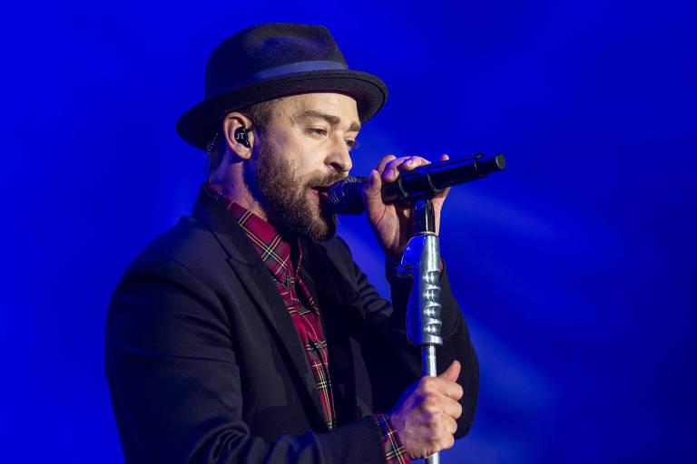 O cantor Justin Timberlake se apresentou fechando a noite do terceiro dia do Rock in Rio.