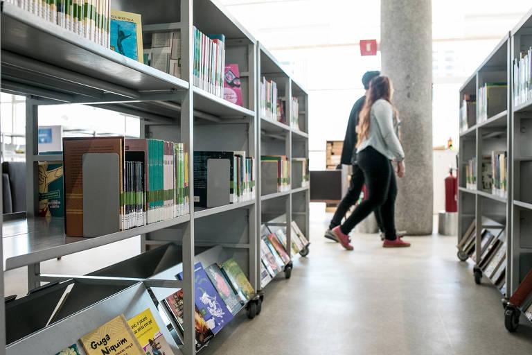 Espaço da Biblioteca de São Paulo, em Santana, zona norte da cidade