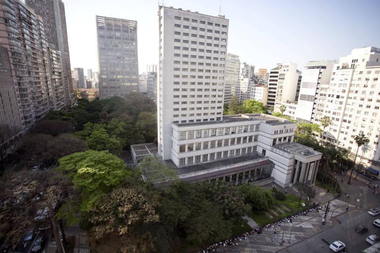 Vista da Biblioteca M�rio de Andrade, na regi�o central de S�o Paulo