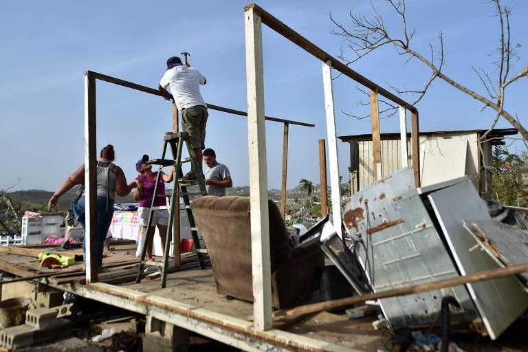 Porto Rico após o furacão Maria, em 2017