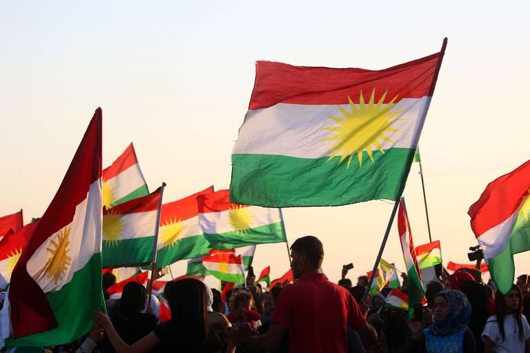 Ato na S�ria em defesa da independ�ncia curda