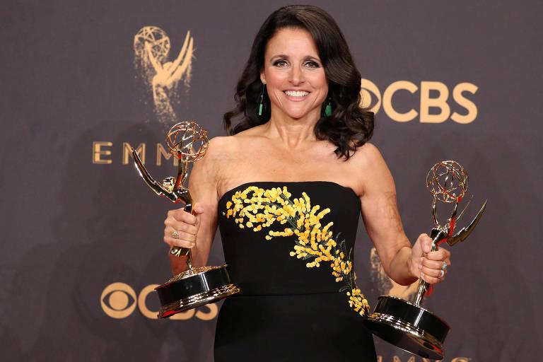 No Emmy 2017, Julia Louis-Dreyfus levou o troféu de melhor atriz e 'Veep' como melhor série de comédia