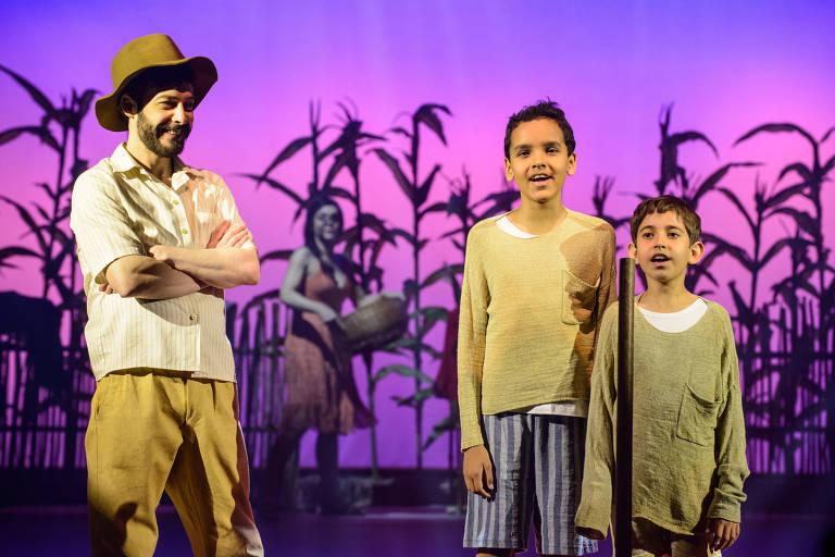 Cena da peça 'Dois Filhos de Francisco', estreia do diretor Breno Silveira em musicais