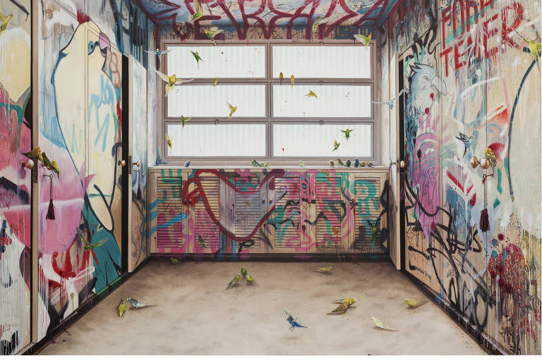'Closet/Revoada' (2016), pintura da paulistana Ana Elisa Egreja que será exibida no festival Videobrasil